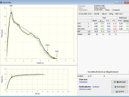 Spar tid når du vurderer spirometri