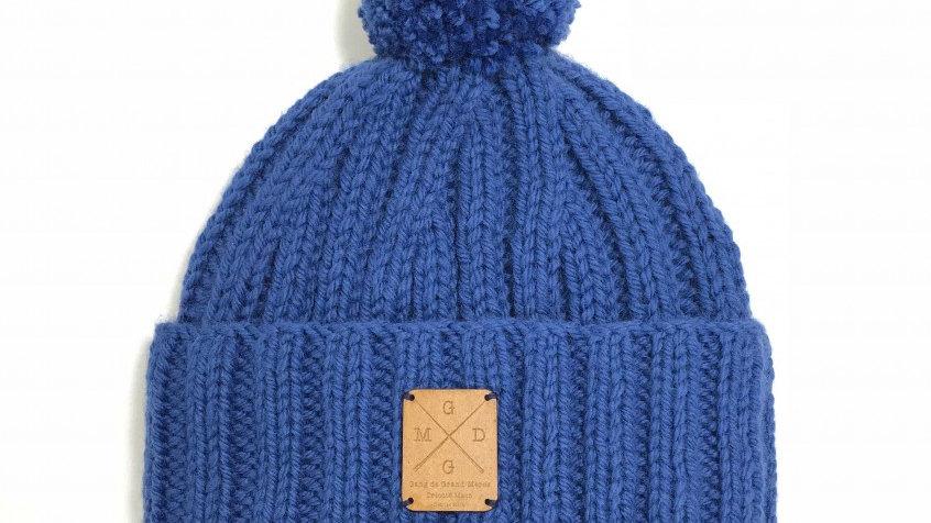 Bonnet à Pompons Amovibles Bleu Marine