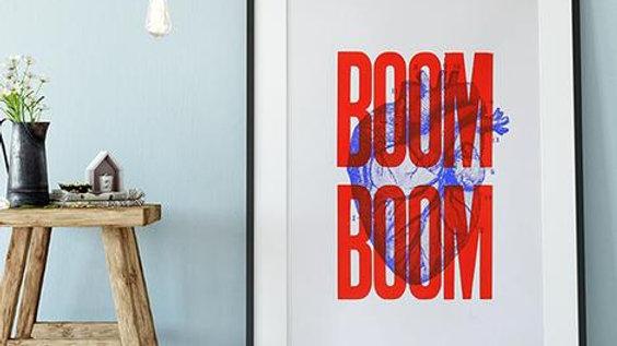 Affiche - BOOM BOOM - Sérigraphie signée -