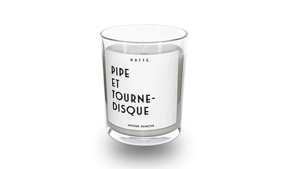 Bougie Pipe Et Tourne-Disque
