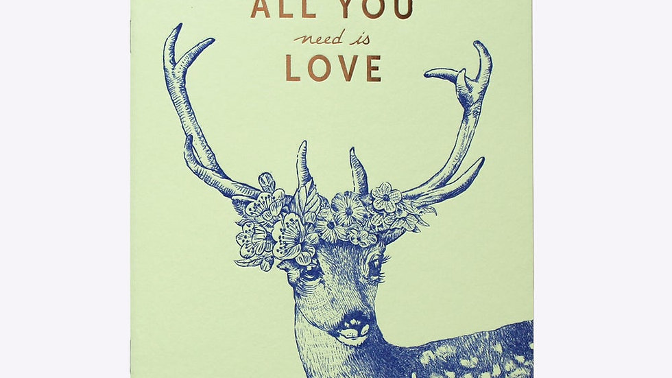 "Cahier Ligné ""All You Need Is Love"""