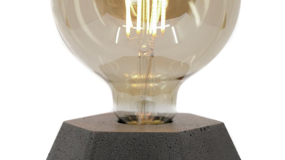 Copie de Lampe Béton Hexagone Anthracite