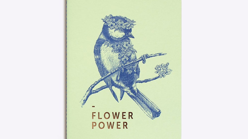 "Carnet Cousu ""Flower Power"""