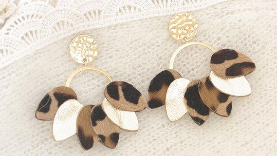 Boucles d'Oreilles Mexico Léopard