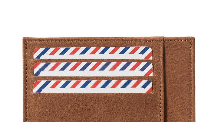 Porte-cartes Cuir Vintage Terre Brunie