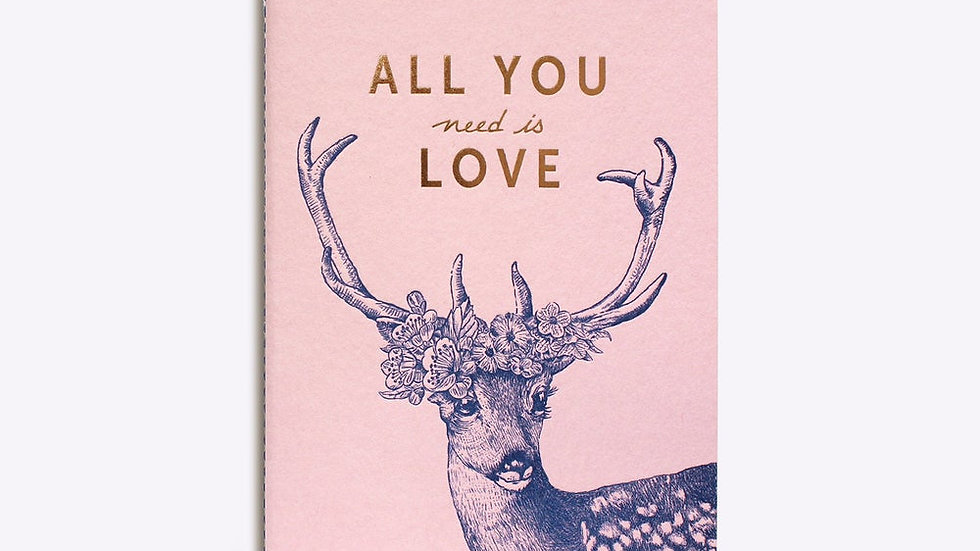 "Carnet Cousu ""All You Need Is Love"""