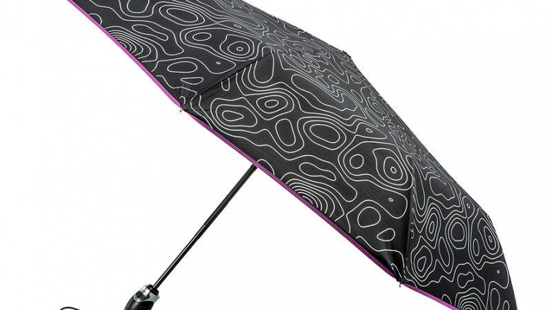 Parapluie Pliable Femme Sérigraphié Géologie