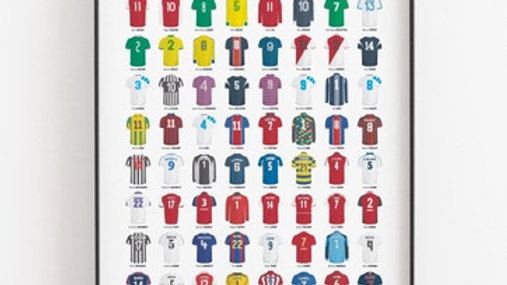 Affiche - Le Panthéon du Football Français