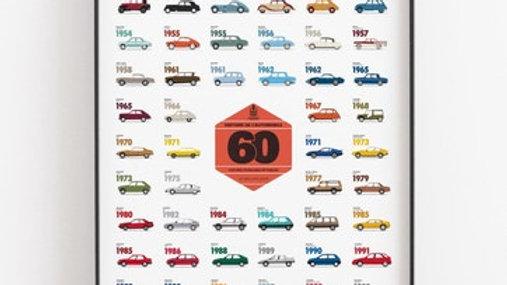 Affiche - Collection des voitures mythiques