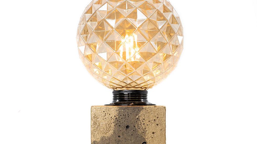 Lampe Béton Patiné Or Anthracite
