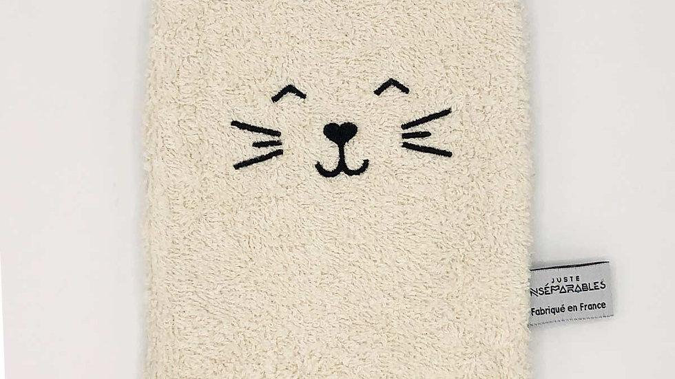 Gant de Toilette Chat