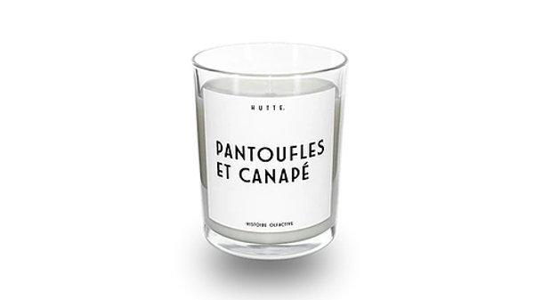 Bougie Pantoufles et Canapé