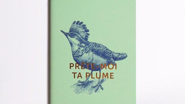 "Carnet Cousu ""Prête Moi Ta Plume"""
