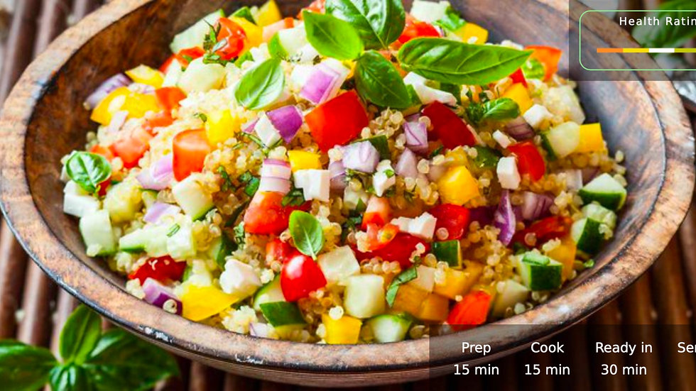 Dinner in 30-minutes- 7 Day Meal Plan