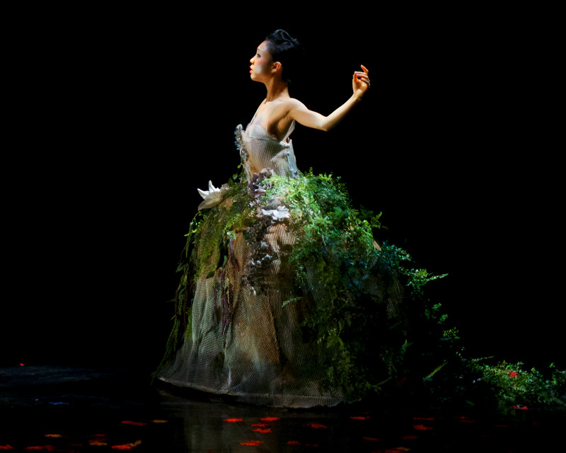 "Hideko Karasawa of Ballet Memphis in Julia Adam's ""Devil's Fruit"". Costume by Christine Darch"