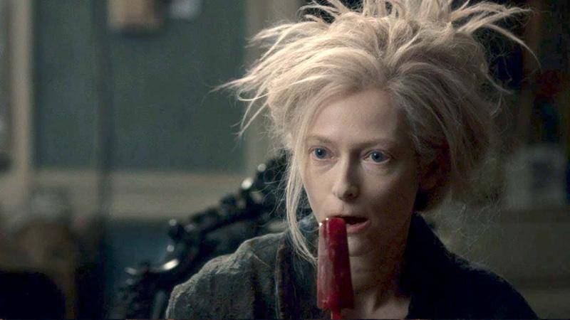 Tilda Swinton eats a blood popsicle