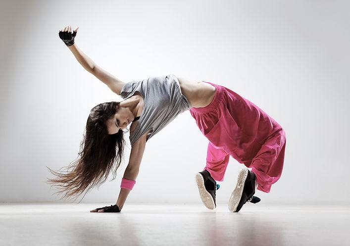 in rosa Hosen Breakdance