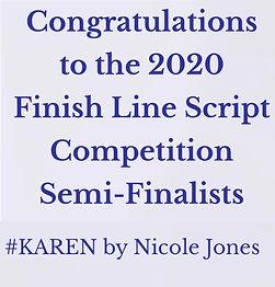 finish line semi finalist karen.JPG