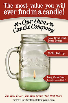 Affordable fast shipped mason jar candles