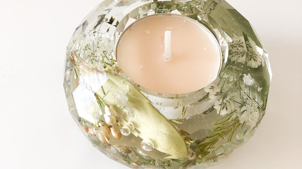 Faceted Tea Light Candle Holder