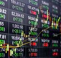 Stock market chart,Stock market data on