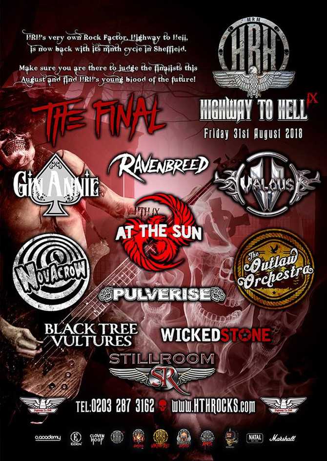 AT THE SUN ARE GOING TO THE HARD ROCK HELL HIGHWAY TO HELL LIVE FINALS!