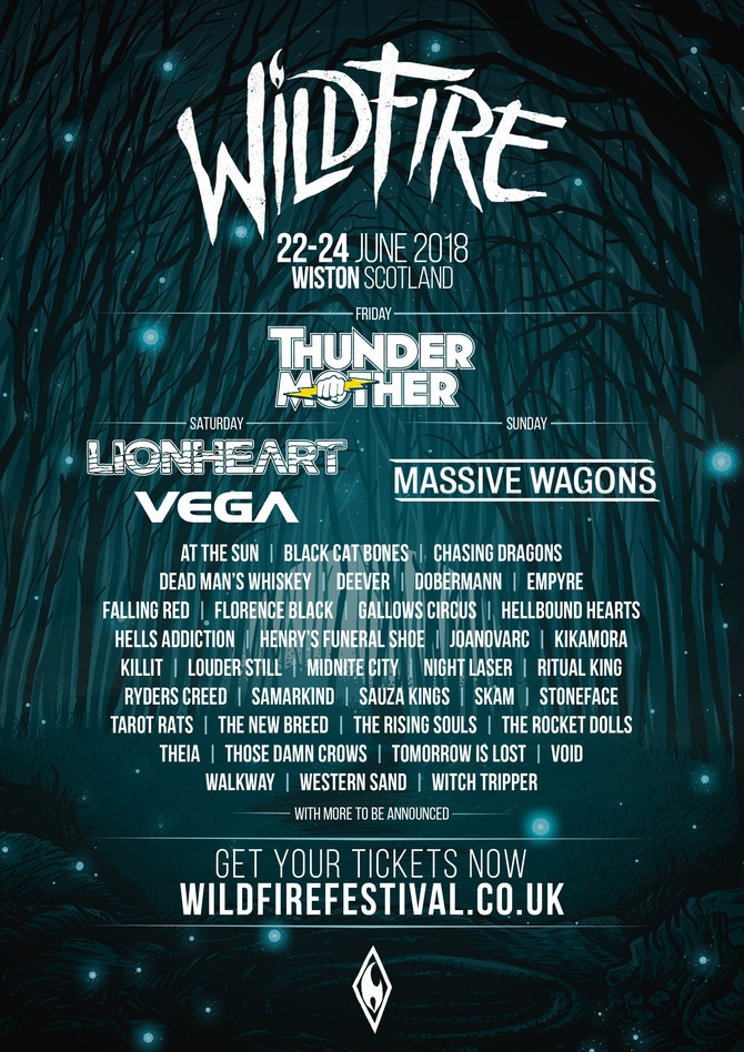 AT THE SUN confirmed for Wildfire Festival 2018