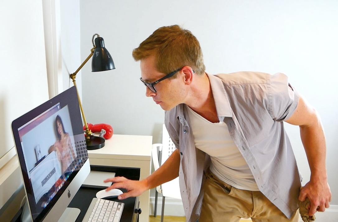 Stokes at computer