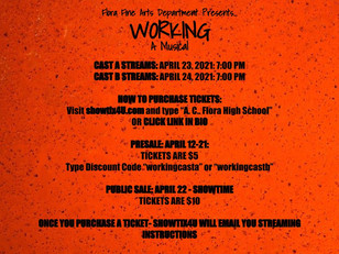 Fine Arts Department Presents WORKING: A Musical