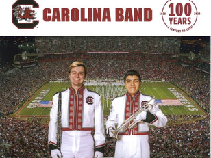 Former A.C. Flora Band Members March With the Carolina Band