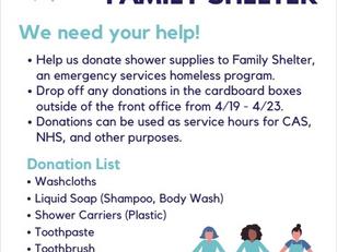 Family Shelter Donation Drive