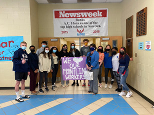 Student Council Thanks Frontline Workers
