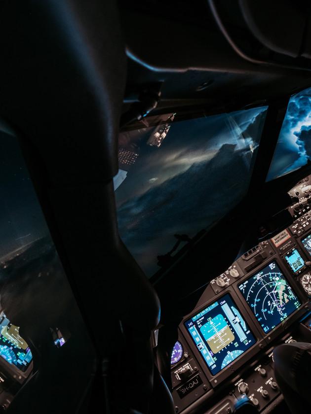 Lightning over France