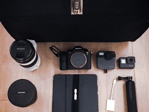 A pilot's camera gear