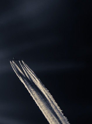 Airbus A380 above