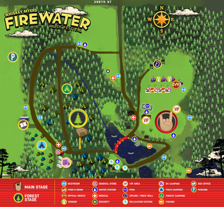 Firewater Festival Map