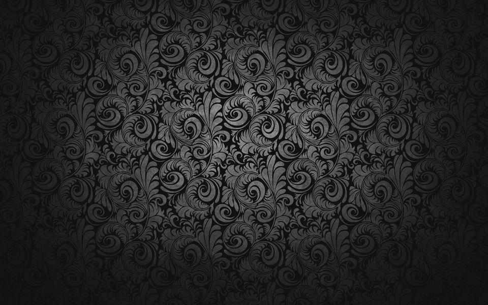 Motif baroque noir. Lumineux au centre.