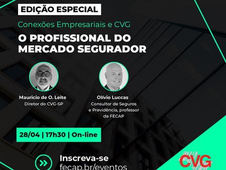 Dia 28/04, CVG-SP e FECAP discutirão o profissional do mercado segurador