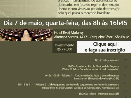Seminário foca contratos de resseguro