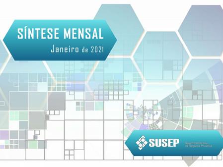 Susep divulga Síntese Mensal com dados do setor em janeiro