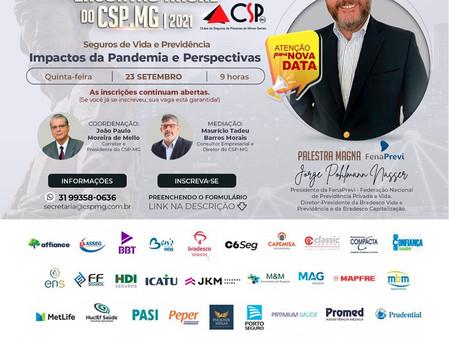 Dia 23/09 - CSP-MG recebe Jorge Nasser no 8º Encontro anual da entidade