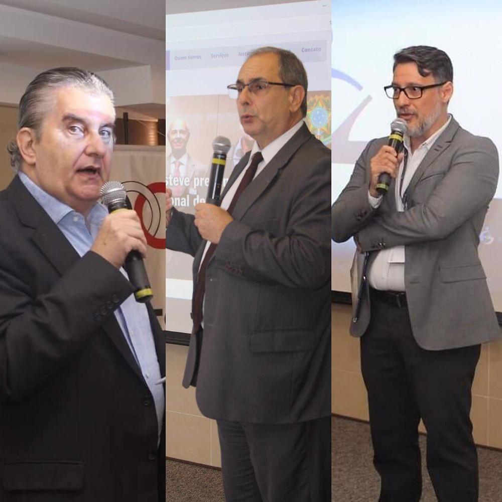 A abertura do evento foi realizada por Octavio Milliet, presidente da APTS, Marcelo D'Alessandro, diretor da ABGR, e Ronny Martins, gerente da ENS