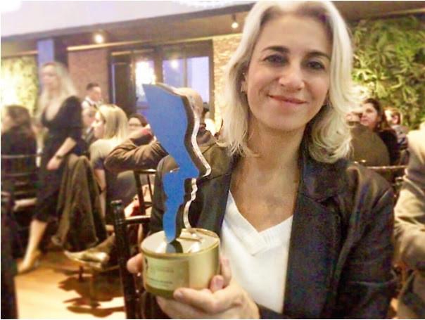 Patricia Coimbra durante o jantar de premiação