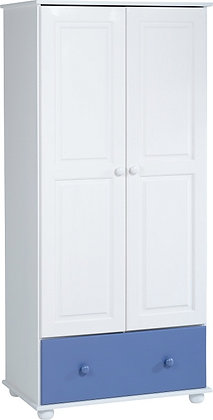 Richard 2 door white wardrobe