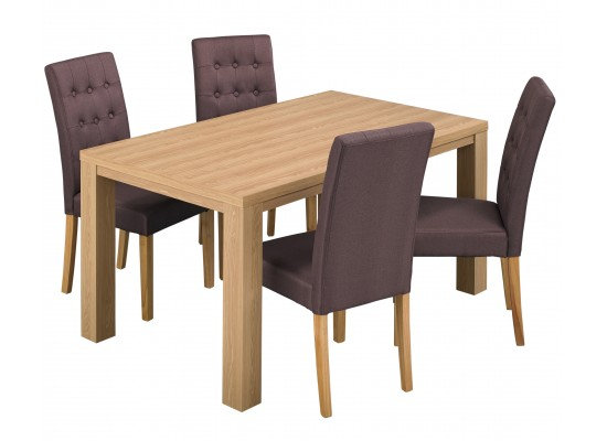 Curve dining set with rome chairs