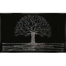 Black glitter tree wall art