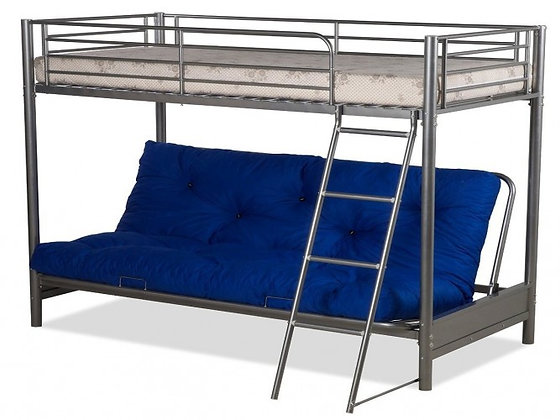 High sleeper with futon and mattress