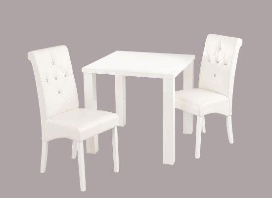 Monroe 2 seater dining set high Gloss