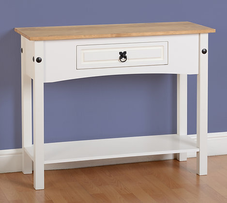 Crown Whte Console table
