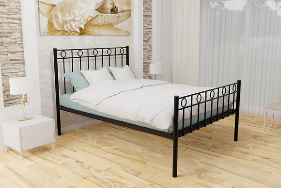 Wrought Iron Black bed frame 4ft6